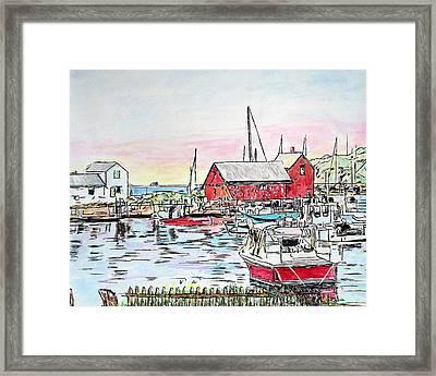 Motif #1 Rockport, Massachusetts Framed Print