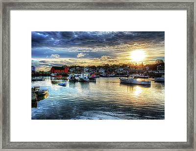 Motif #1 Sunrise Rockport Ma Framed Print