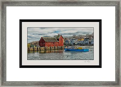 Motif #1 Watches Over The Amie V3 Framed Print by Liz Mackney