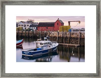 Motif No 1 Evening Framed Print