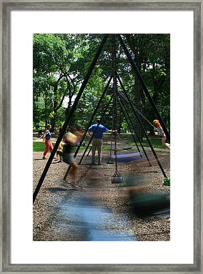 Motion Central Park Framed Print by Brian M Lumley