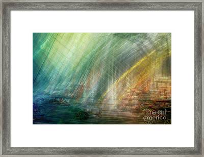 Framed Print featuring the photograph motion in Dublin street by Ariadna De Raadt