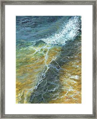 Framed Print featuring the painting Motion Of The Ocean by Darice Machel McGuire