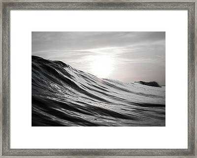 Motion Of Water Framed Print