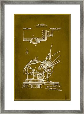 Motion Picture Machine Patent Drawing 1a Framed Print by Brian Reaves