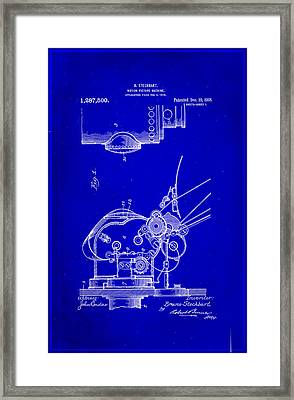Motion Picture Machine Patent Drawing 1g Framed Print by Brian Reaves