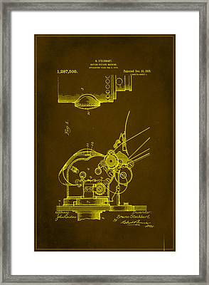 Motion Picture Machine Patent Drawing  Framed Print by Brian Reaves