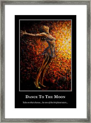 Motivational Dance Goals Framed Print