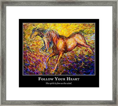 Motivational Horsea Framed Print