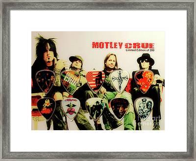 Motley Crew Picks Framed Print by Anthony Djordjevic