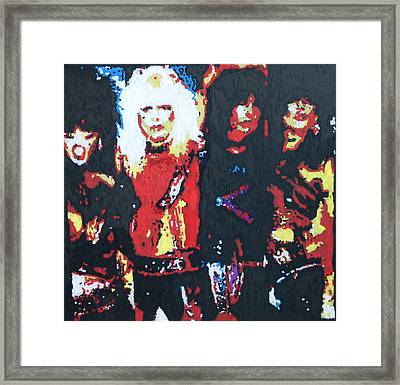 Motley Crue Without Sun Framed Print by Grant Van Driest
