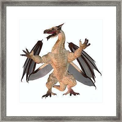Motley Dragon Framed Print by Corey Ford
