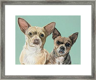 Moto And Rocko Framed Print by Nathan Rhoads