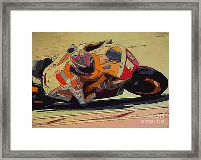 Moto Gp 93 For Men Office Framed Print by Pablo Franchi