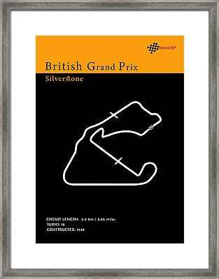 Moto Gp Great Britain Framed Print by Mark Rogan