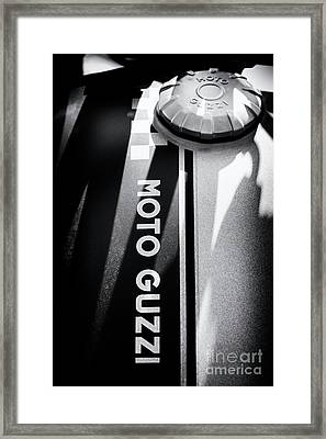 Framed Print featuring the photograph Moto Guzzi by Tim Gainey