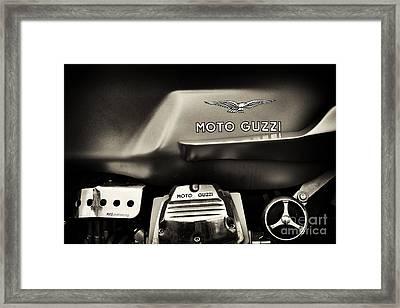 Moto Guzzi V7 Cafe Racer Sepia Framed Print