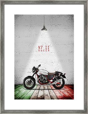 Moto Guzzi V7 Racer Framed Print