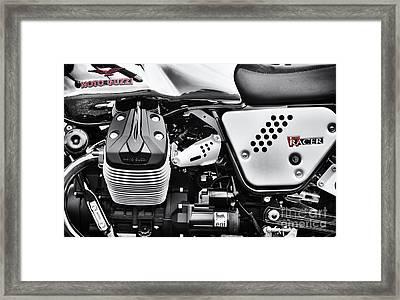 Moto Guzzi V7 Racer Monochrome Framed Print