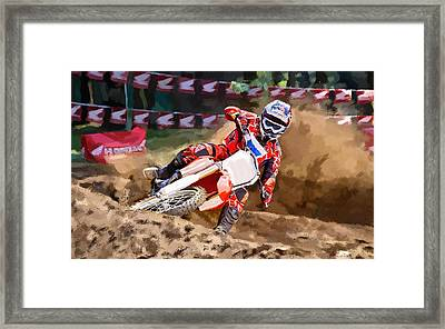Moto-x Framed Print by Robert Smith