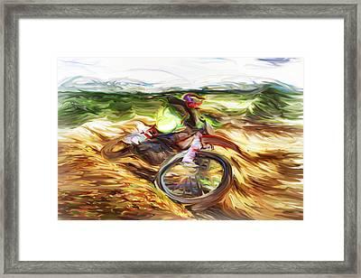 Motocross B Framed Print