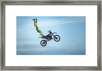 Motocross Fmx Framed Print
