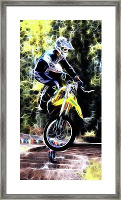 Motocross Jump Framed Print