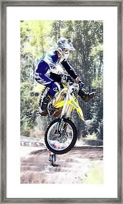 Motocross Jump II Framed Print