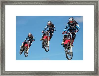 Motocross Riders Framed Print