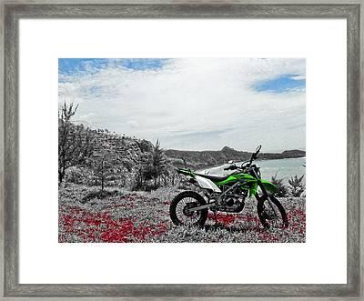 Motocross Framed Print