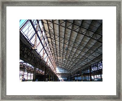 Motor Plant Ceiling And Skylights Framed Print by Edmund Akers