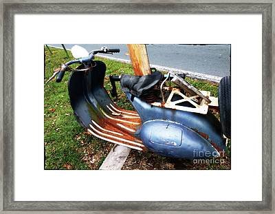 Motor Scooter Blues  Framed Print