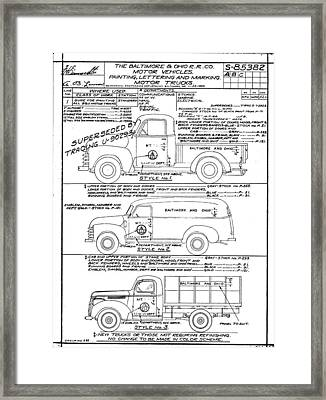 Motor Vehicles Framed Print