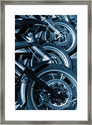 Motorbike Wheels Framed Print by Carlos Caetano
