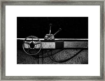Motorboat Black And White Framed Print