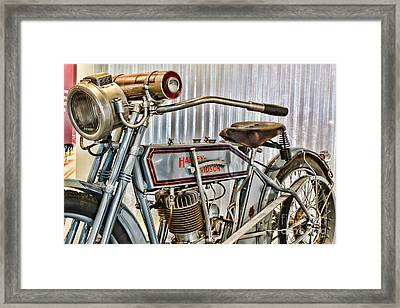 Motorcycle - 1913 Harley Davidson 9a Framed Print by Paul Ward