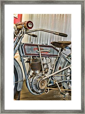 Motorcycle - 1913 Harley Davidson  Framed Print by Paul Ward