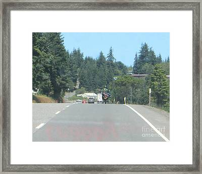 Framed Print featuring the photograph Motorcycle Club Aka Four by Marie Neder