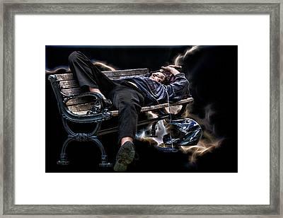 Motorcycle Dreams Framed Print by John Haldane