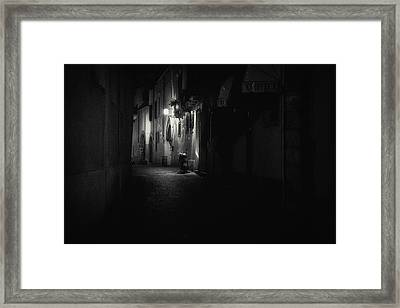 Motorcycle Emptiness Framed Print by Chris Fletcher