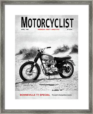 Motorcycle Magazine Bonneville Tt 1966 Framed Print