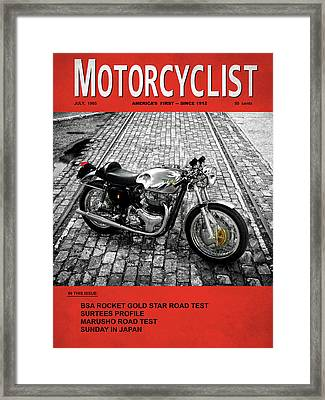 Motorcycle Magazine Bsa Rocket 1965 Framed Print