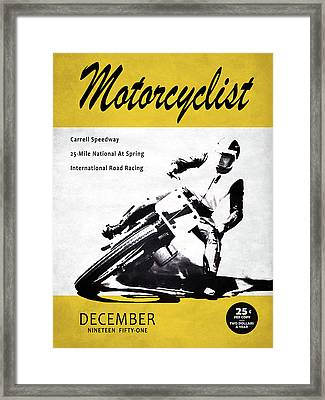 Motorcycle Magazine Carrell Speedway 1951 Framed Print
