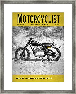Motorcycle Magazine Desert Racing 1962 Framed Print