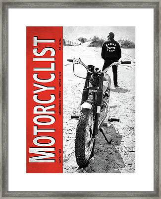 Motorcycle Magazine Desert Racing 1966 Framed Print