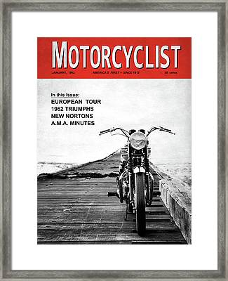 Motorcycle Magazine European Tour 1962 Framed Print