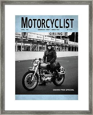 Motorcycle Magazine Grand Prix Special 1952 Framed Print