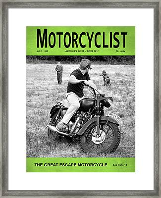 Motorcycle Magazine Great Escape Motorcycle Framed Print