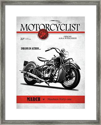 Motorcycle Magazine Indian Chief 1941 Framed Print