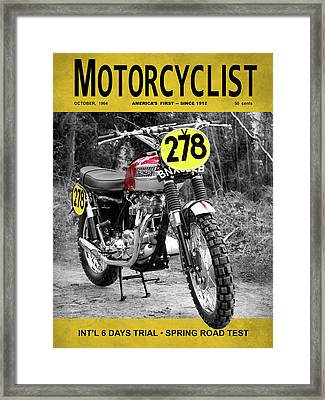 Motorcycle Magazine Isdt 1964 Framed Print